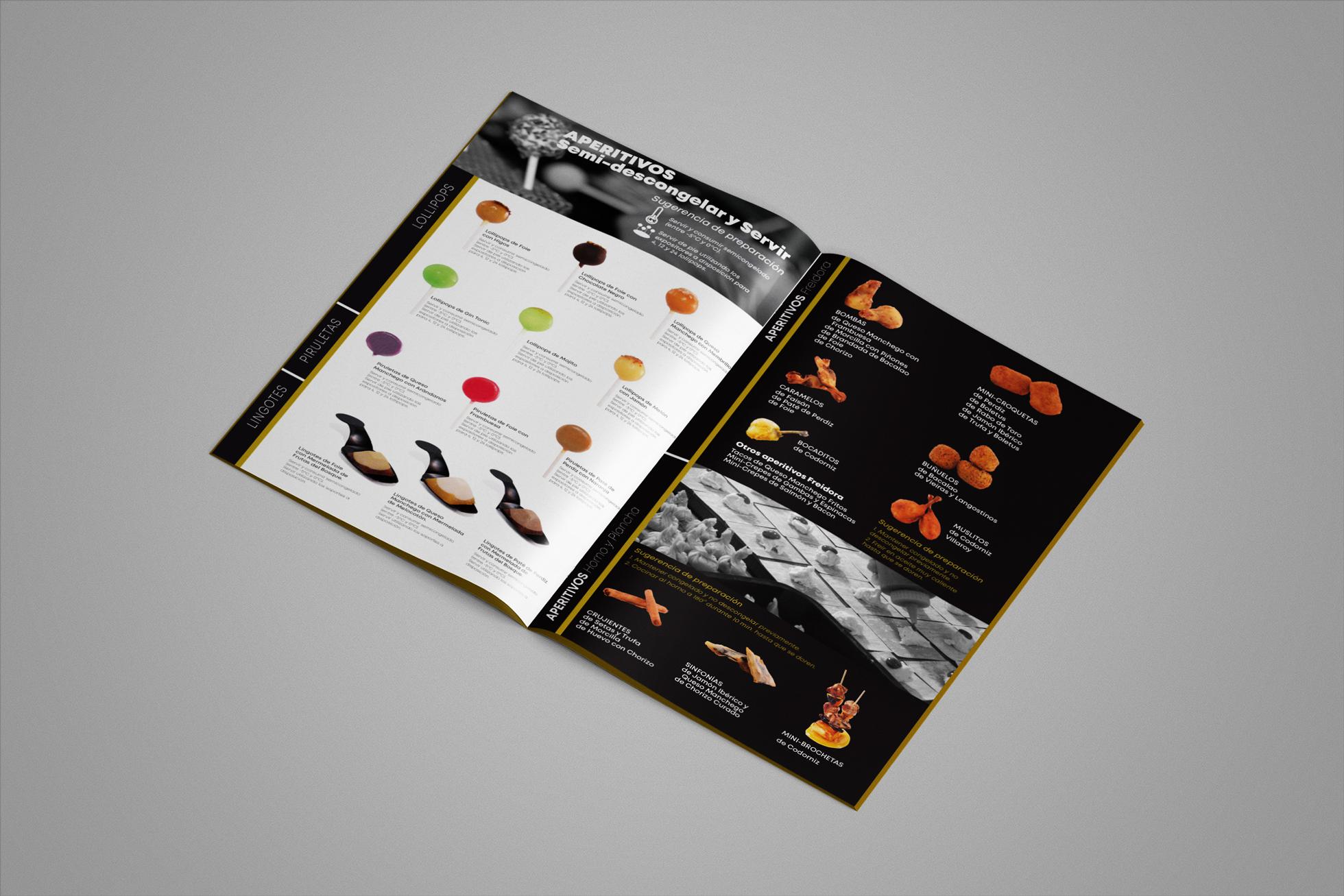 diseño catálogo abierto marca conservas