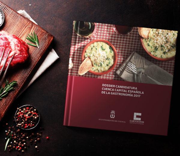 diseño editorial para candidatura de cuenca a capital española de la gastronomía
