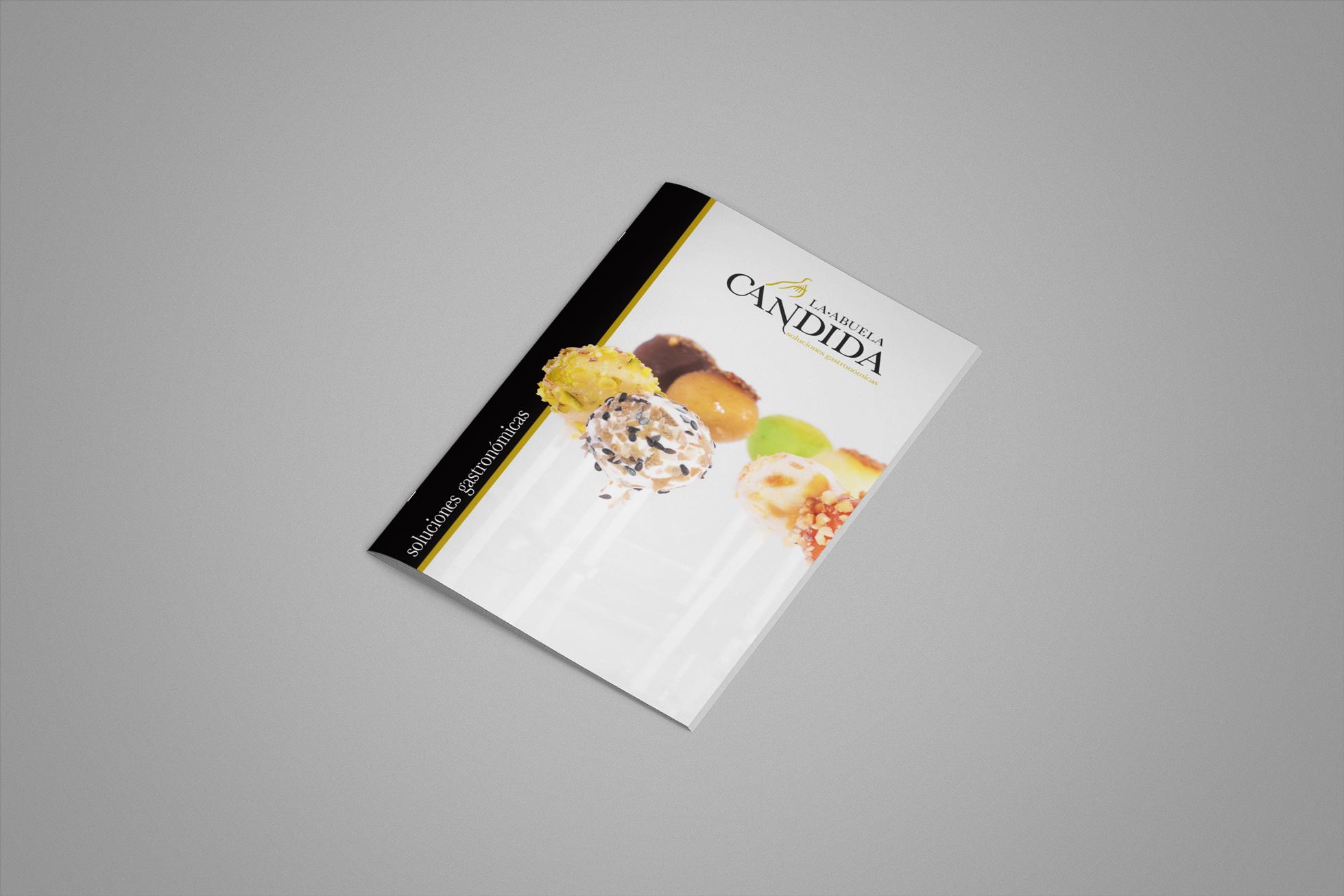 diseño portada catálogo marca conservas