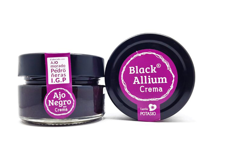 bote de Black allium en crema