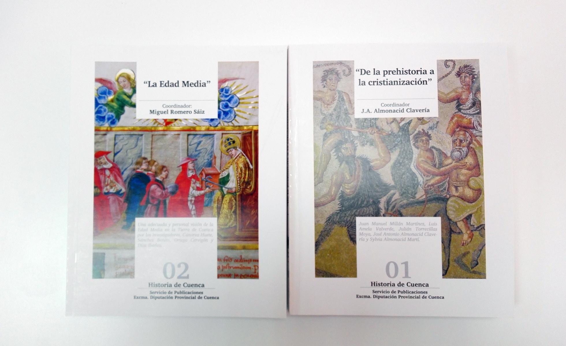 maquetación y diseño de colección libro historia cuenca