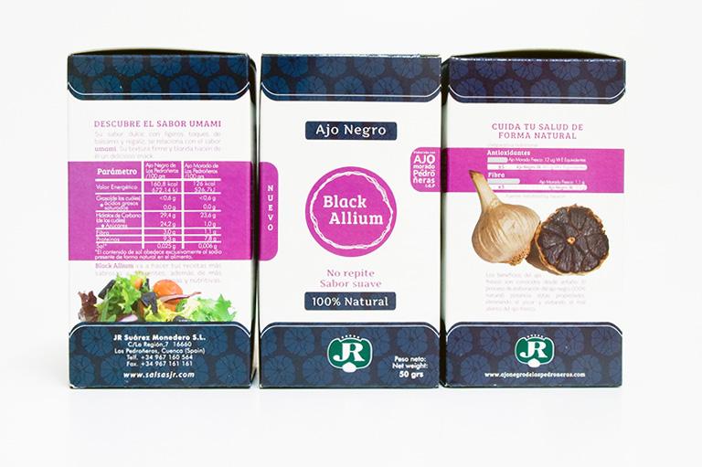 black allium packaging